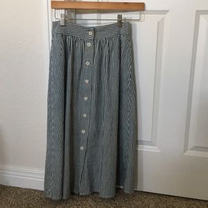 Madewell Palisade Button-Down Midi Skirt